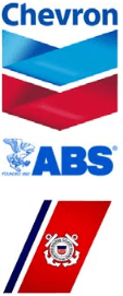 Chevron, The American Bureau of Shippin, and United States Coast Guard Logos